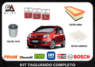 KIT FILTRI TAGLIANDO FIAT PANDA II 1.4i NATURAL POWER 69CV 51KW DAL 09//2010 WIX