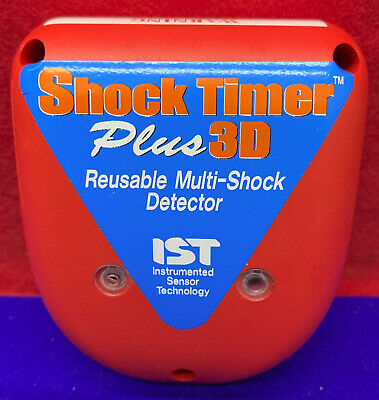 Ist Instrumented Sensor Shock Timer Plus 3D Reusable Multi-Chock Detector 3 Axis