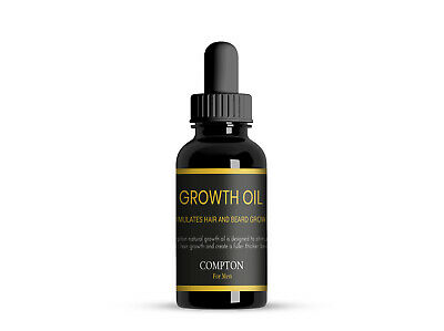 Compton Beard Growth Oil - Facial Hair Growth & Shine - Aust Made All Natural