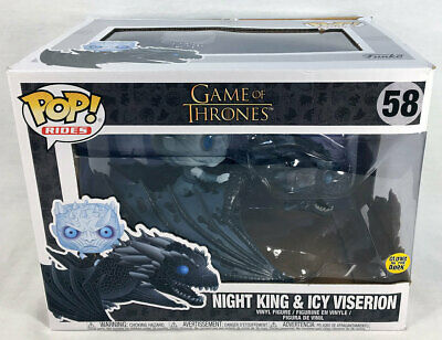 Funko POP Rides 58 Game of Thrones NIGHT KING & ICY VISERION Figure, Box Damage
