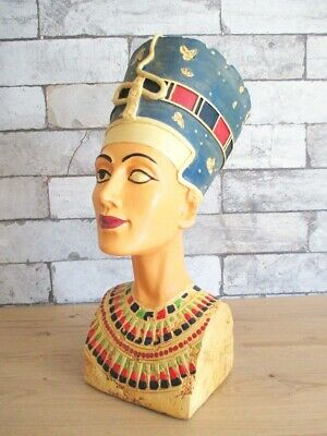 Nofretete Bust Replica Egypt Queen 11 13/16in Polyresin Decor Model