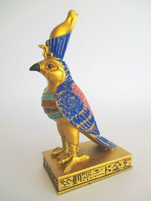 Horus Falke Standing Bird Egypt Figure 5 7/8in Polyresin Decor Egypt