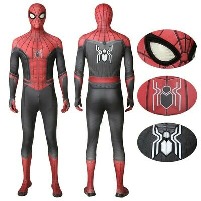 Spider-Man Far From Home Peter Parker Spiderman Cosplay Costume for Adult & Kids