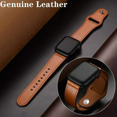 40/44mm Genuine Leather Apple Watch Band Strap for iWatch Series 1 2 3 4 38/42mm
