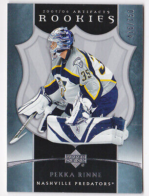 05-06 Artifacts Pekka Rinne /750 Rookie Predators RC 2005