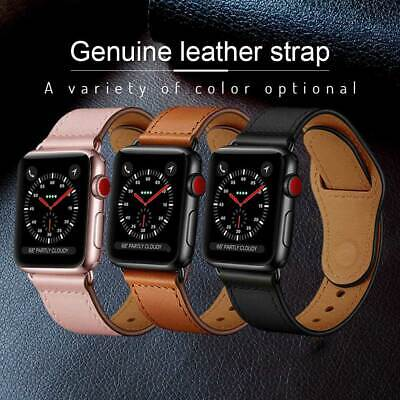 38/40/42/44mm Leather Genuine Strap Apple Watch Band For iWatch Series 1 2 3 4