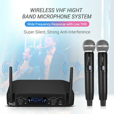 Handheld UHF 2 Wireless Microphone Metal System 10 Channel w/ PRO Receiver E3S2