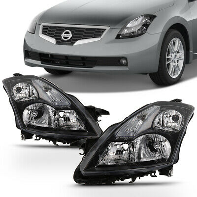 For 2007 2008 2009 Altima Sedan Halogen Headlights w/Clear signal Headlamps Pair