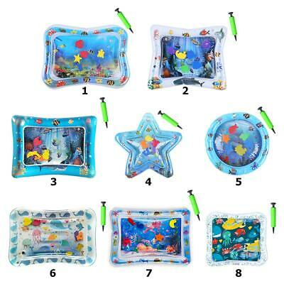 ,6 sea toys in mat 66x50cm Best Tummy Time Water Play Mat for Kids n Baby,Large