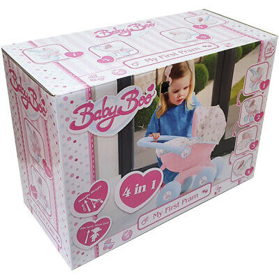 HTI Baby Boo 4-in-1 My First Pram for Baby Dolls - 1423639