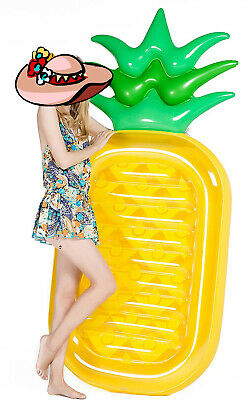 Groovy Pineapple Pool Beach Lake Float Large Inflatable Tube For Creativecarmelina Interior Chair Design Creativecarmelinacom