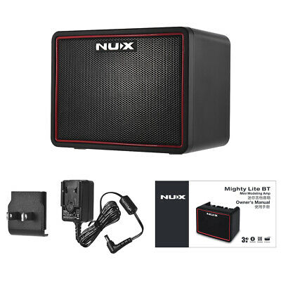 NUX Mighty Lite BT Electric Guitar Amplifier Amp 3 Channels Tape Tempo NEW M5K0