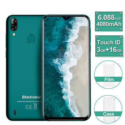 Blackview A60 Pro Unlocked Smartphone Quad Core Android 9.0 Cheap Mobile Phone