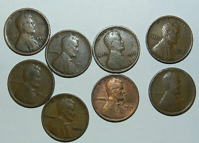 U.S.A.  8 X LINCOLN CENTS - Earlier Dates
