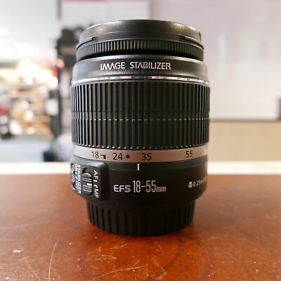 Used Canon EF-S 18-55mm F3.5-5.6 IS Lens - 1 YEAR GTEE