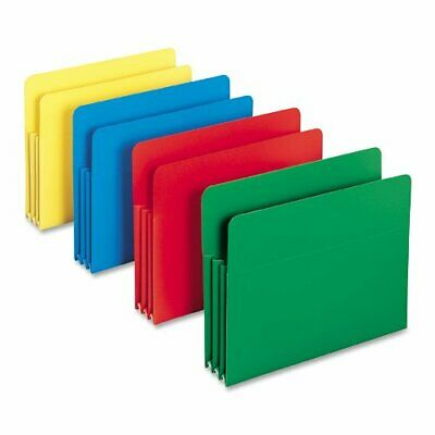 Smead Poly File Pocket, Straight-Cut Tab, 3-12 Expansion, Legal Size, Assorte...