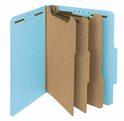 Smead 100 Recycled Pressboard Classification File Folder, 3 Dividers, 3 Expan...
