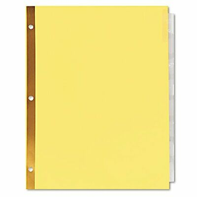 Universal One Extended Insert Indexes, Eight Clear Tabs, Letter, Buff, 24 Set...