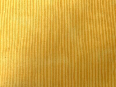 Yellow FQ Fat Quarter Fabric Blended Lines Stripes 100% Cotton Quilting