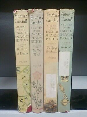 History Of The English Speaking Peoples -Winston S.Churchill- 4 Books. (ID:5492)