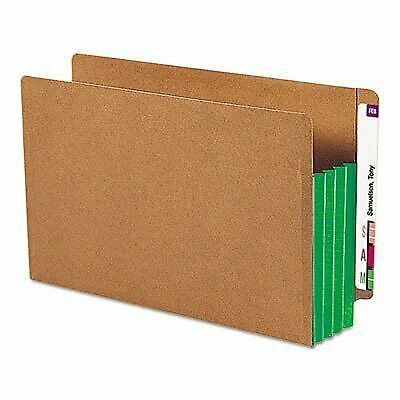 SMD74680 - Smead 74680 Green Extra Wide End Tab File Pockets with Reinforced ...