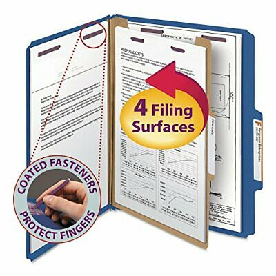 Smead Four-Section Pressboard Top Tab Classification Folders with SafeSHIELD ...