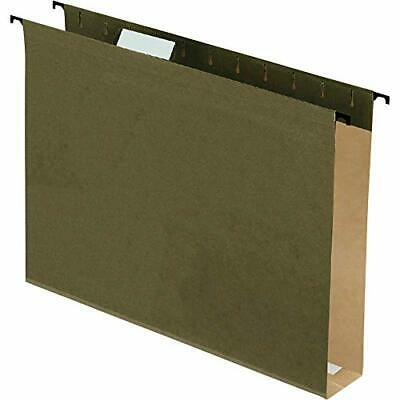 Pendaflex Surehook - Poly Laminate Hanging Folders Letter Green Two Inch Expa...