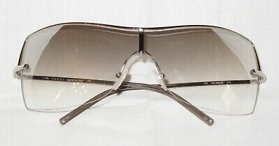 abae04d2c32a Genuine GUCCI Vintage Sunglasses Silver Metal, Grey Graduated Mirrored  lenses