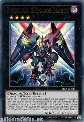 RIRA-EN039 Borreload eXcharge Dragon Ultra Rare 1st Edition Mint YuGiOh Card