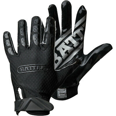 Battle Sports Science Triple Threat Adult Football Receiver Gloves - Black