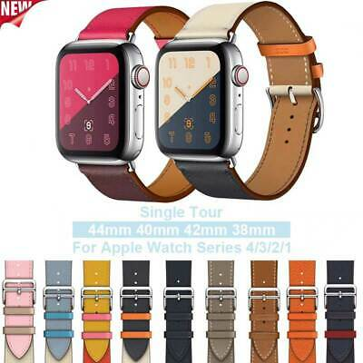 Apple Watch Band 38mm 40mm 42mm 44mm Swift Leather Single Tour Bracelet Strap