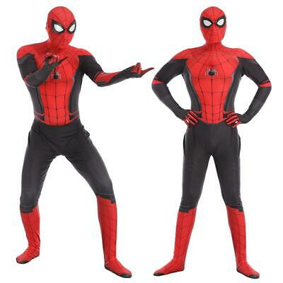 Spider-Man Far From Home Adult Kids Peter Parker Zentai Cosplay Costume Suit XX