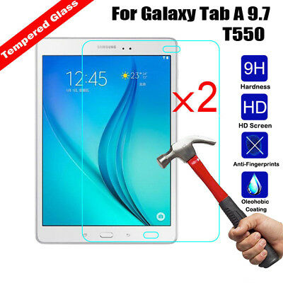 AD_ 2Pcs Premium 9H+ Tempered Glass Film Screen Protector For Samsung Tablet Pad