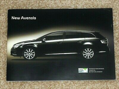 2009 NEW TOYOTA AVENSIS Sales Brochure - Saloon & Tourer T2 TR T4 T-Spirit MINT