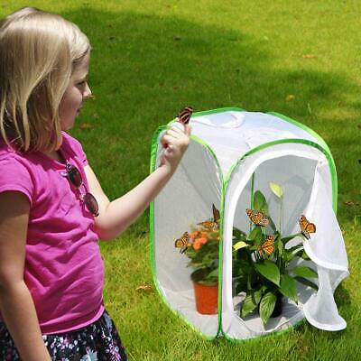 "RESTCLOUD Insect Butterfly Habitat Cage Terrarium 23.6"" Tall Nature Fun Science"