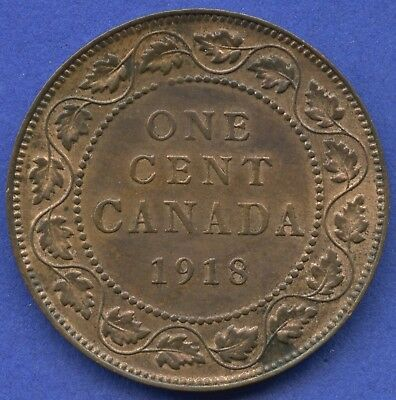 1918 Canada Large 1 Cent Coin