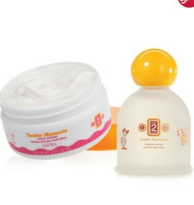 Jafra Tender Moments Fresh Baby Cologne  Cream.1,2,4 Orange. productos 2.