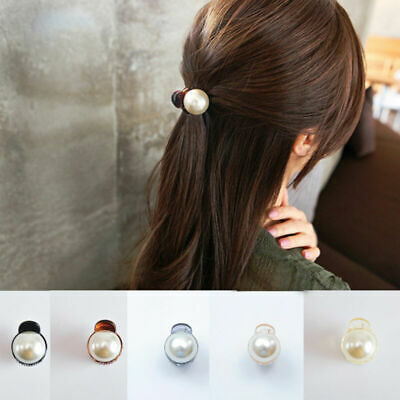 Hair Clips 1ps Fashion Women Imitation Pearl Hairpins Hair Claw Vintage Clamps