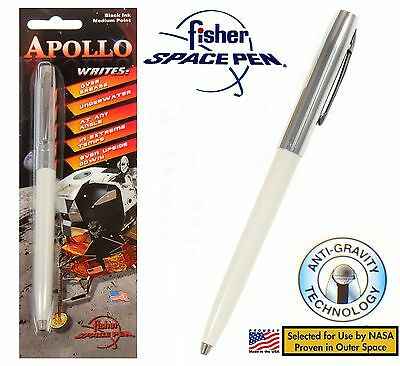 Fisher Space Pen #S251-White Apollo Series pen in Chrome & white