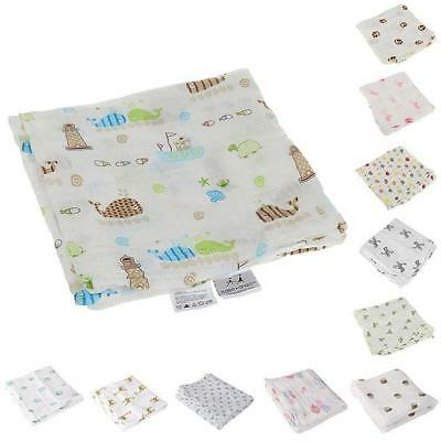 Baby Swaddle Cute Muslin Blanket Baby Multi-Use Bamboo Blanket Infant Wrap CP