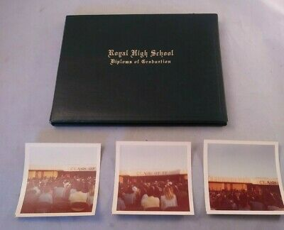 Vintage 1977 Diploma from Royal High School Simi Valley, California.