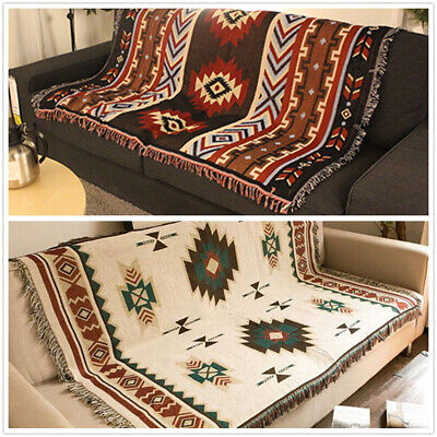Rrea Rug Tapestry Aztec Navajo Throw
