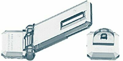 Source One Deluxe Crystal Clear Acrylic Flat Mount Hasp (1 Pack)