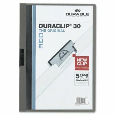 DURABLE Vinyl DuraClip Report Cover with Clip, Letter, Holds 30 Pages, ClearG...
