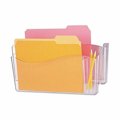 Universal 8142 Unbreakable 4-In-1 Wall File, Two Pockets, Plastic, Clear