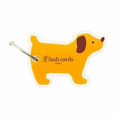 Flash Cards blank, dog shaped pack on carry ring