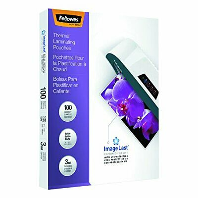 Fellowes Thermal Laminating Pouches, ImageLast Letter Size, 3 Mil, 100 Pack (...