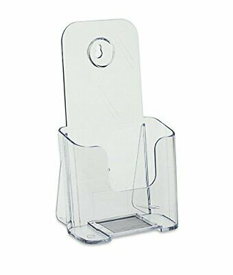 SourceOne Brochure Holder for 4 x 9 TriFold Booklets - Clear Acrylic Countert...