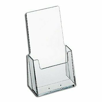 Source One Premium Counter Top TriFold 4-Inch Wide Acrylic Brochure Holder (1...