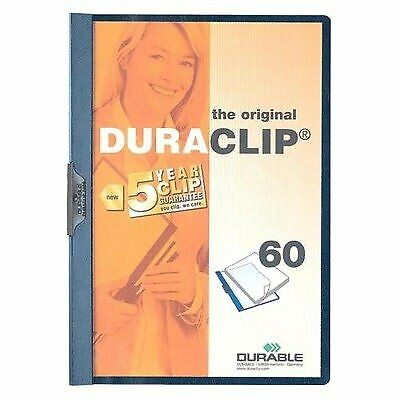 DURABLE Vinyl DuraClip Report Cover with Clip, Letter, Holds 60 Pages, ClearN...